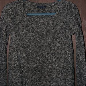 Charcoal Grey American Eagle scoop neck sweater